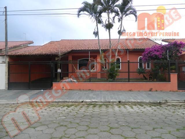 Casa residencial à venda, 900m da praia - Parque Turístico, Peruíbe - CA0052.
