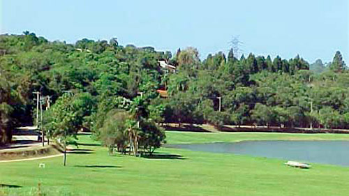 Lago interno do Patrimônio do Carmo, próximo ao ponto de encontro ao lado do Restaurante e quadra poliesportiva.