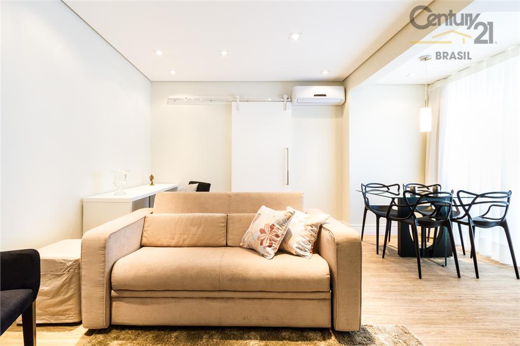 Lindo apartamento mobiliado e decorado de 1 dormitório na Vila Nova Conceição!