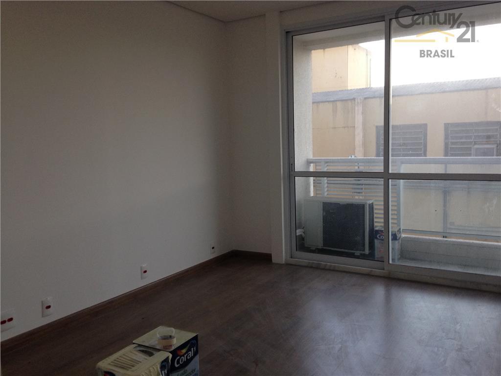 conjunto comercial novo primeira locação com terraço piso em carpete de madeira teto em gesso ar...