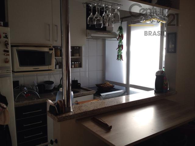 apartamento 48 m² com 2 dormitórios, varanda, cozinha americana repleta de armários, condomínio clube com piscina,...