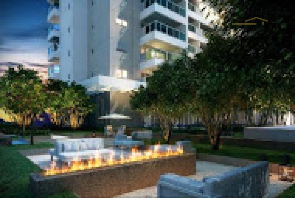 apartamento 58m2, com 01 dormitorio, sala, cozinha, 01 vaga, varanda com vista magnifica, proximo do parque...