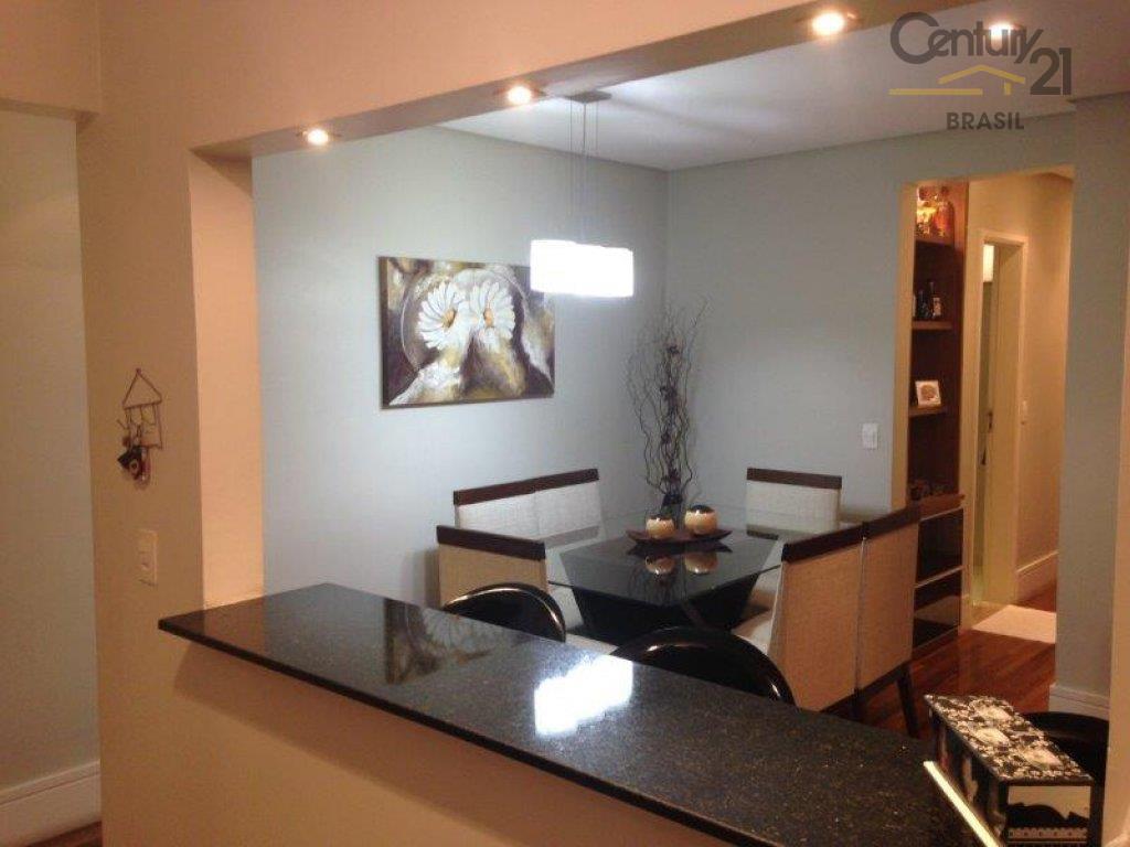 apartamento com 3 dormitórios, sala ampla com balcão integrado com a cozinha, 2 banheiros, 2 vagas...