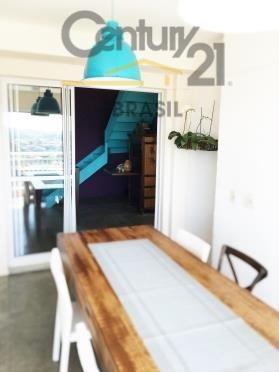 cobertura duplex 208m² 3 suites sendo uma transformada em escritório. sala ampla, 3 vagas.
