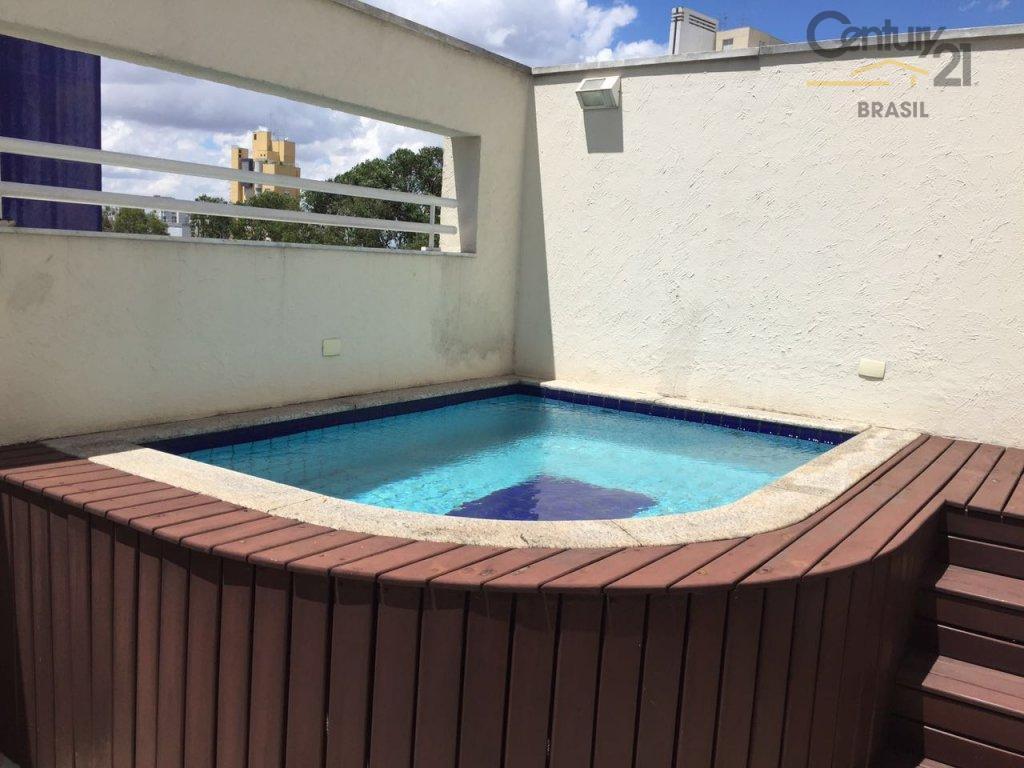 linda cobertura duplex, 150 m² com piscina, churrasqueira, 3 dormitórios, sendo 2 suítes, com closet, ar...
