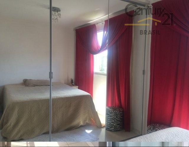 lindo apartamento em condomínio clube, andar baixo, com 3 dormitórios, sendo 1 suíte, com armários planejados,...