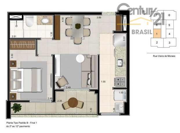 Apartamento Residencial à venda, Campo Belo, São Paulo - AP4190
