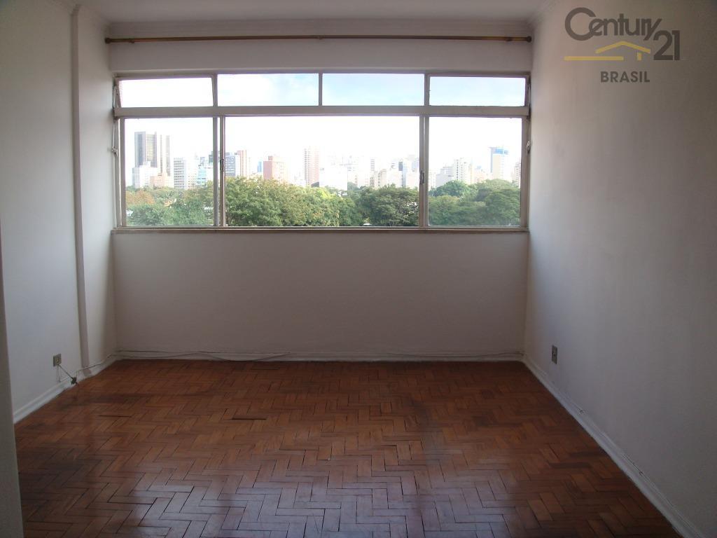 Apartamento residencial 3 dorm, 2 banheiros, sem vaga para locação no Jardim América, vista ampla para o verde do Jardim América