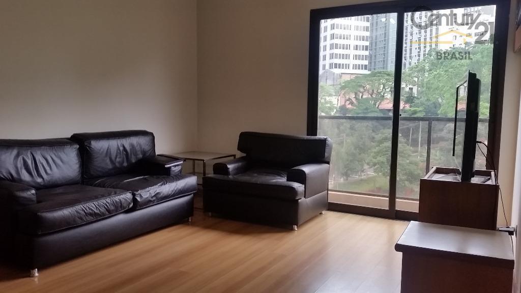 Apartamento mobiliado para locação nos Jardins, próximo ao Metrô Trianon-Masp.