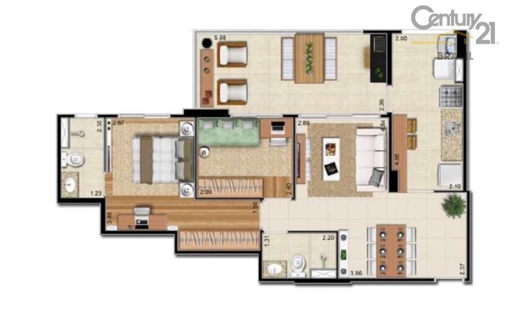 excelente apartamento com 2 quartos e 2 banheiros (sendo 1 suíte). varanda gourmet com ponto de...