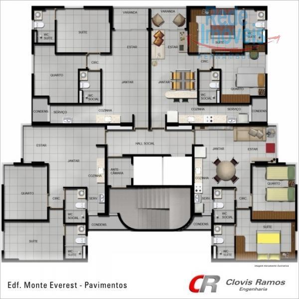 Apartamento residencial à venda, Candeias, Jaboatão dos Guararapes.