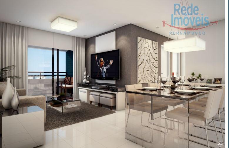 Apartamento residencial à venda, Piedade, Jaboatão dos Guararapes - AP0834.