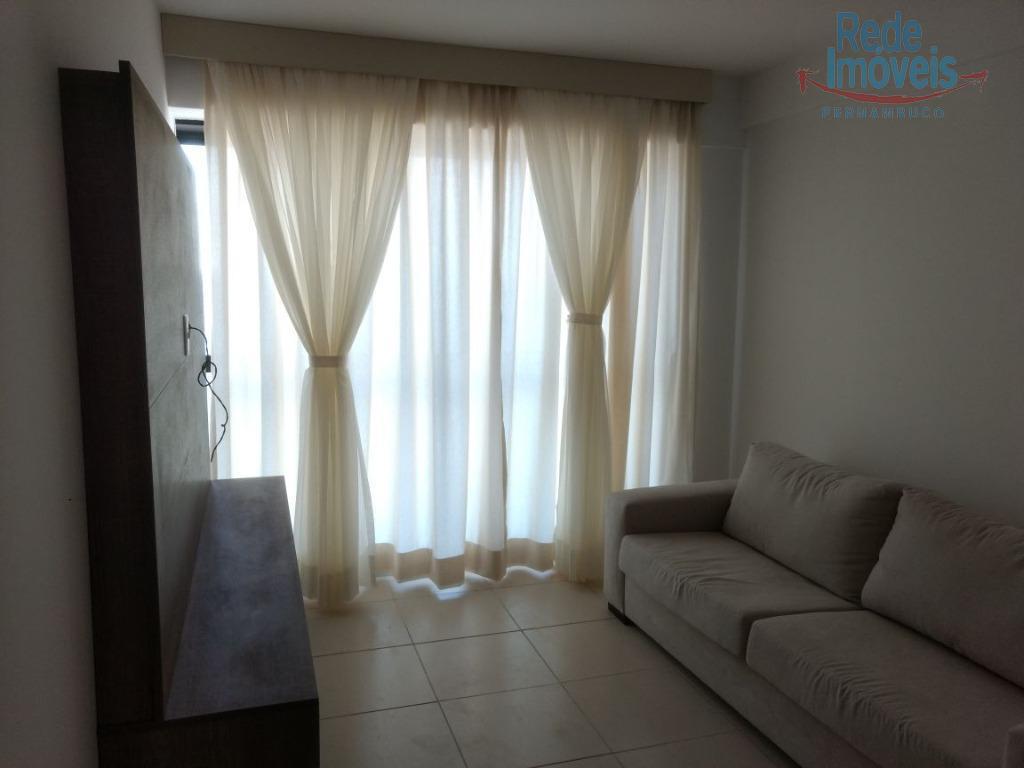 Flat residencial para locação, mobiliado, Candeias, Jaboatão dos Guararapes - FL0001.