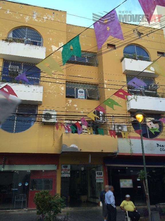 Sala  comercial para locação, Centro Norte, Cuiabá.