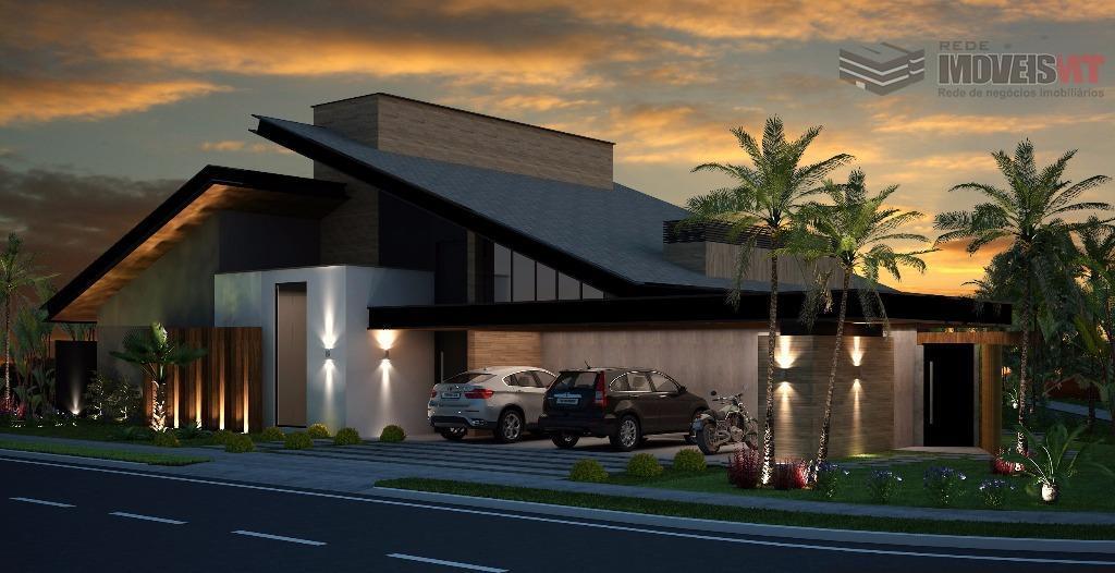 Casa residencial à venda, em construção, Condomínio Belvedere, Cuiabá-MT