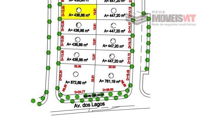 Terreno residencial à venda, Condomínio Residencial Florais dos Lagos, Cuiabá-MT