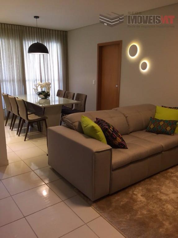 Apartamento residencial à venda,Condomínio Edificio Cuiabá Central Parque, Centro Norte, Cuiabá-MT