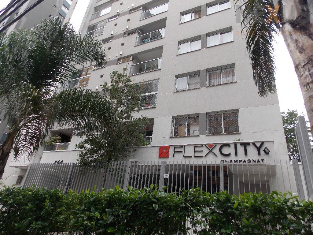 Flexcity Champagnat 3 quartos c/ suíte, andar alto, 2 vagas de garagem!