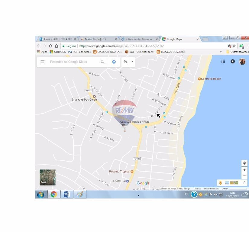 Apartamento Residencial Para Venda E Locação Enseada Dos Corais - Cabo de santo agostinho map