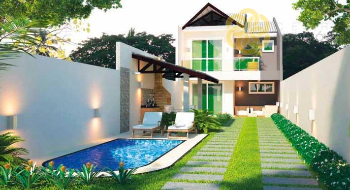Casa residencial à venda 3 Quarto no Eusébio - CA0198.