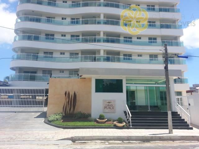 Apartamento à venda na Parquelândia, Ed. Gran Place, 108 m², 3 quartos, 2 vagas, Andar Alto, Fortaleza.