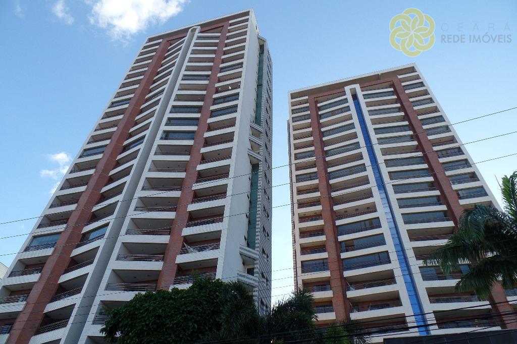 Apartamento à venda na Aldeota, Villa Domani, 128 m², 3 suítes + lavabo, Nascente Total, Apartamento Decorado, Fortaleza.