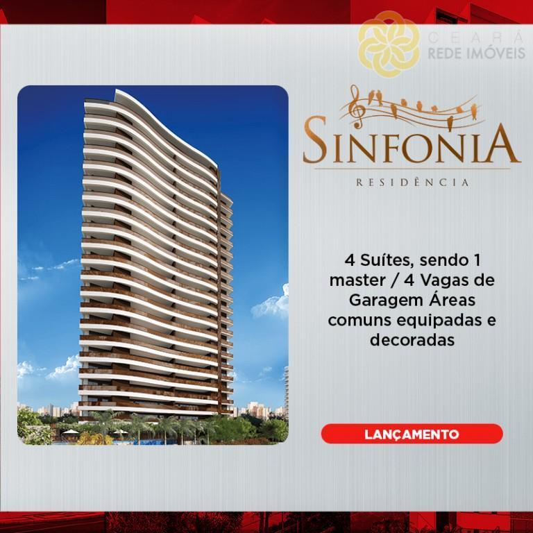Apartamento à venda, Cocó, Fortaleza. Sinfonia Residência, lançamento no Cocó.
