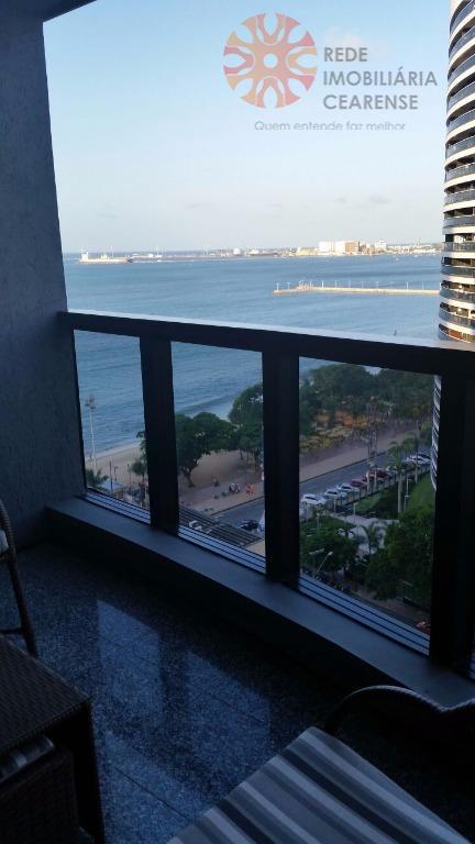 Flat  residencial para locação, 1 quarto, Meireles, Com Internet e TV a Cabo