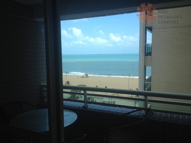Apartamento para alugar, 2 quartos, Mobiliado, Meireles, Vista Mar, Com Internet