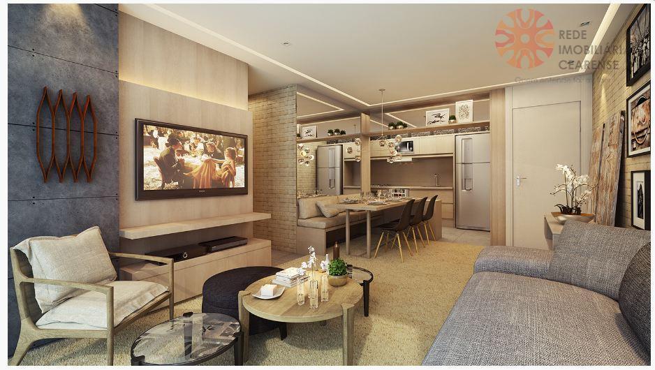 Apartamento à venda no Guararapes, 3 quartos, 2 suítes, 2 vagas. Financia.