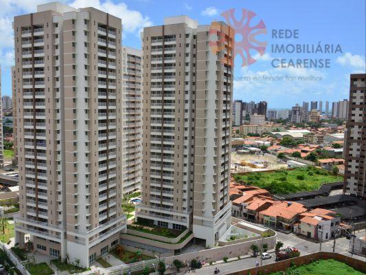 Apartamento à venda no Papicu, A poucos metros do shopping Rio Mar. Novo, 69,90m2 3 quartos, 1 suíte. Financia.