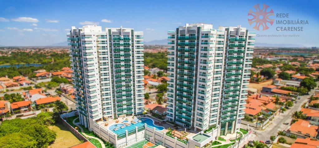 Apartamento à venda no Guararapes, novo, 3 quartos, 1 suíte, 2 vagas, lazer completo, financia.