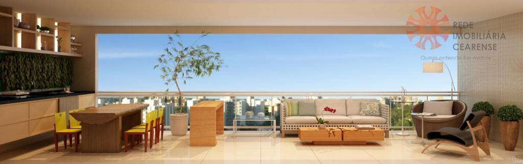 Apartamento alto padrão à venda no Guararapes, 152m2, 3 suítes, estar íntimo, 3 vagas. Financia.
