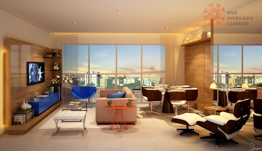 Apartamento à venda no Meireles. 118,30m2, 3 suítes,  lazer completo. Financia.