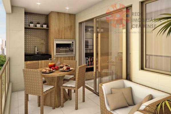 Apartamento alto padrão à venda na Aldeota. 115,18m2, 3 suítes, lazer completo. Financia.