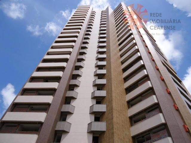 Apartamento à venda na Aldeota, 126,64m2, 3 suítes, lavabo, 3 vagas. Financia.