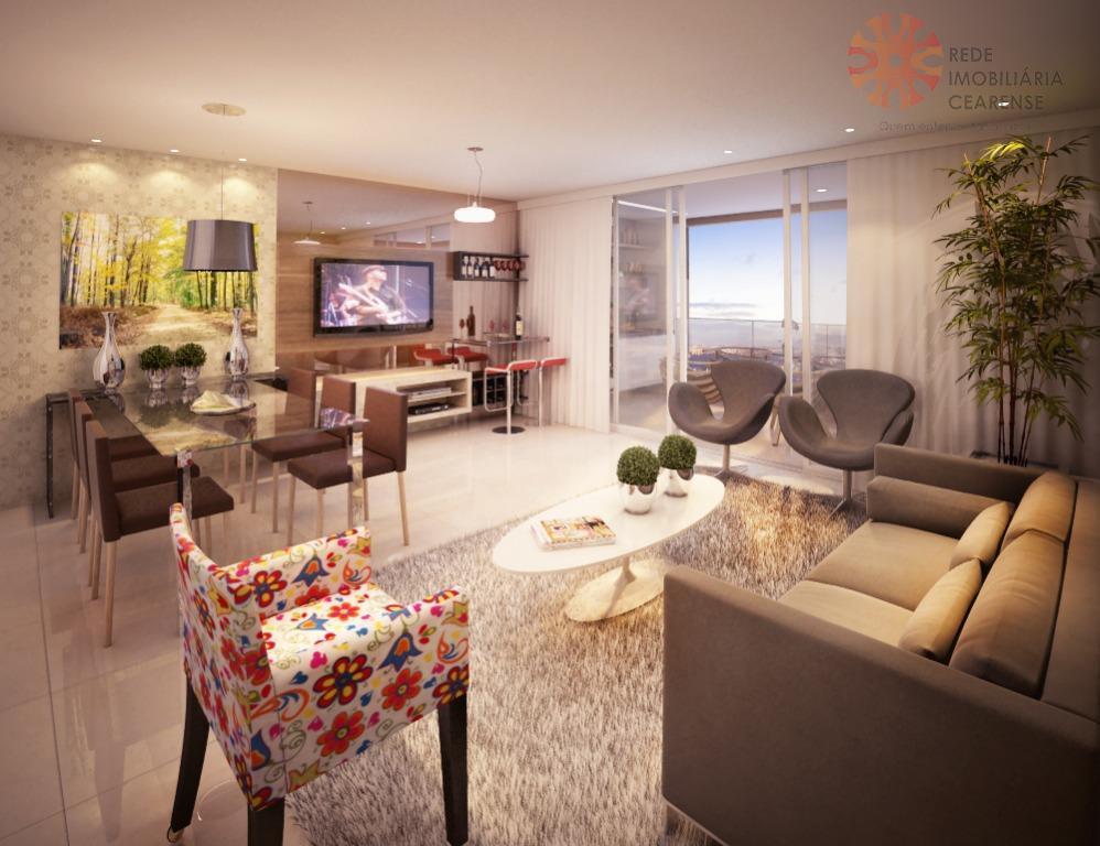 Apartamento à venda na Parquelândia, pronto para morar, novo, 151,31m2, 3 suítes. Financia.