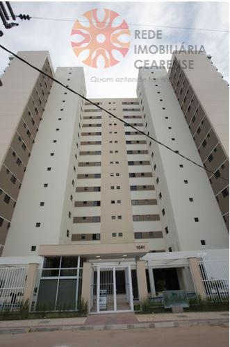 Apartamento a venda no Guararapes. Novo, 68m2, 3 quartos, suíte, wc social, 2 vagas. Financia.