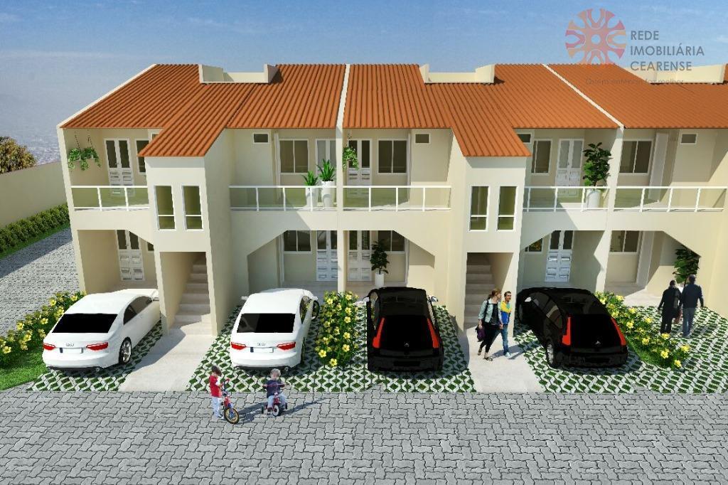 Apartamento à venda em Messejana.52m2, 2 suítes, área de lazer. Financia.