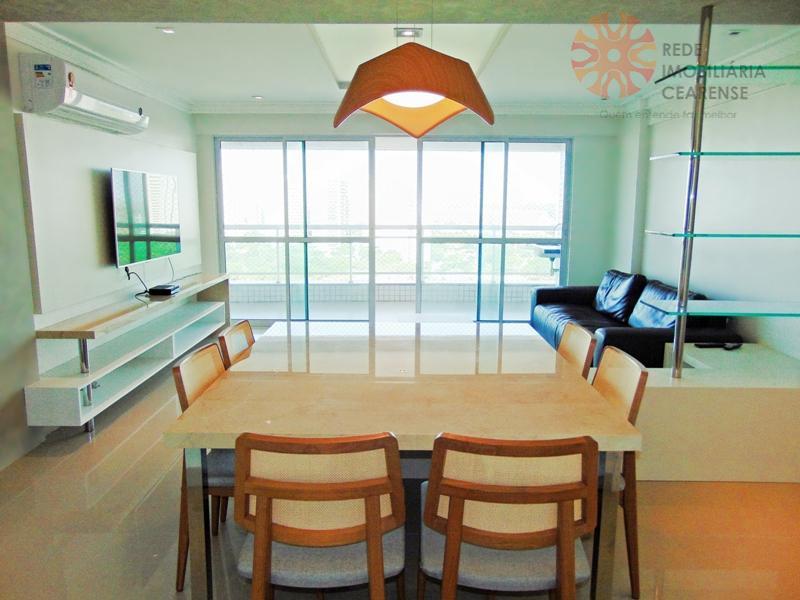 Apartamento à venda no Guararapes, novo, nascente, 146m2, 3 suítes, gabinete, projetado, 3 vagas. Financia.