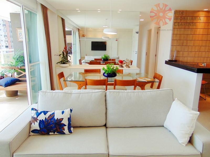 Apartamento à venda no Guararapes, 109,84m2, 3 suítes, varanda gourmet. Financia.