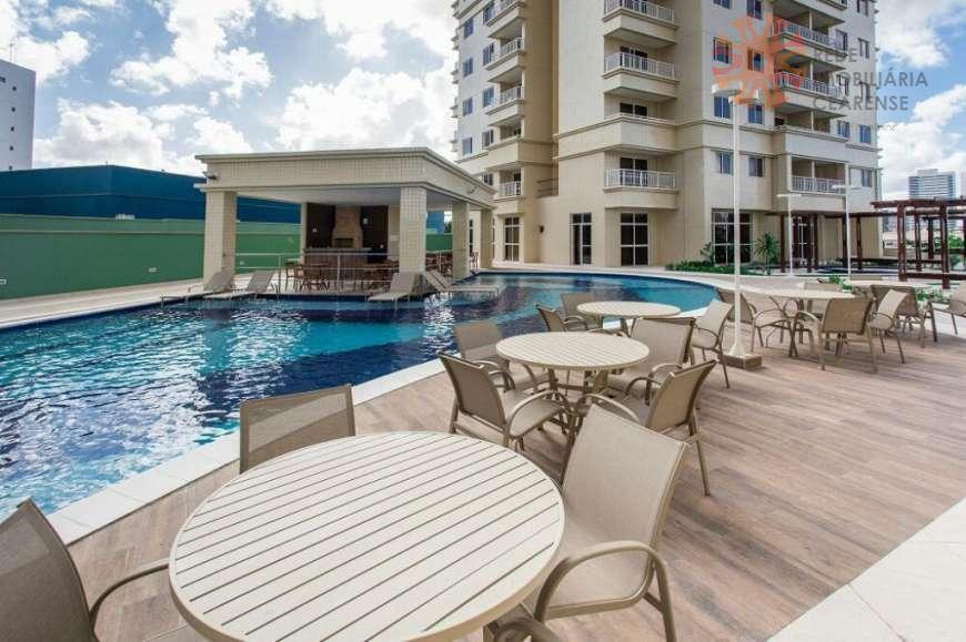 Apartamento à venda na Aldeota. Novo, 75m², 3 quartos, 2 wcs, 2 vagas, lazer completo. Financia.