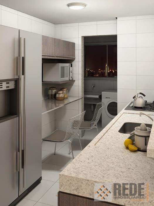 apartamentos com 3 quartos, 1 suíte, sala com 2 ambientes, cozinha tipo americana, banheiro social, área...