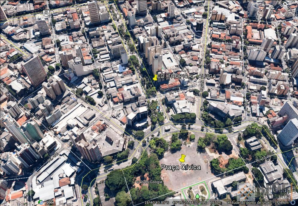 conjunto de 3 salas comerciais, ventilador de teto, ar condicionado. próximo praça civica.cód. 510www.vesperimoveis.com.br