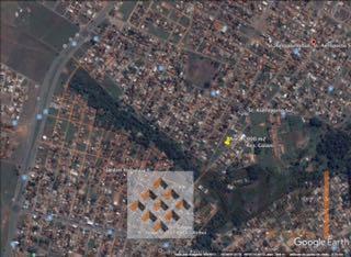 área com vocação comercial ou residencial com 4.463,04 m² na escritura e após ratificação de levantamento...