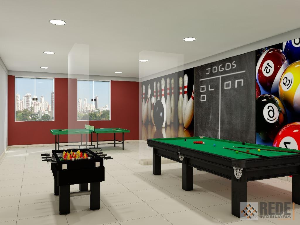 apartamento de 2 quartos sendo 1 suíte, sala 2 ambientes, ponto de ar condicionado na suíte,...