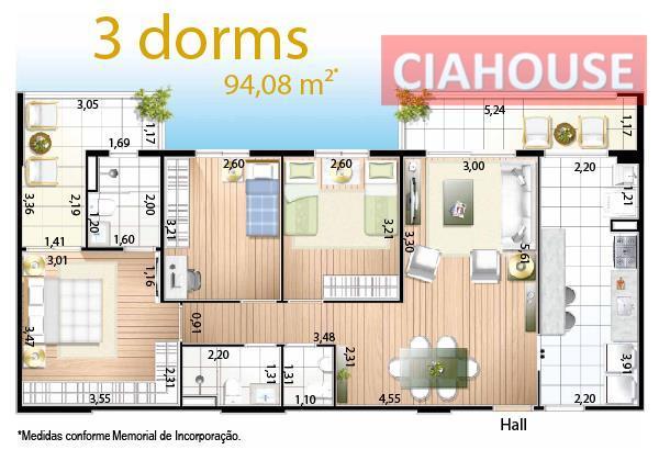 Apartamento no Jardim Aquárius em excelente localização.