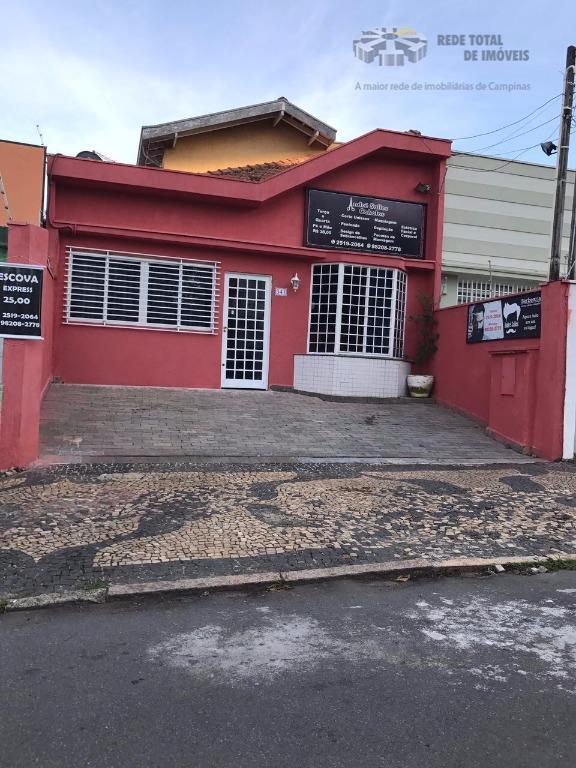Casa comercial para venda e locação, Jardim Guanabara, Campinas - CA2742.