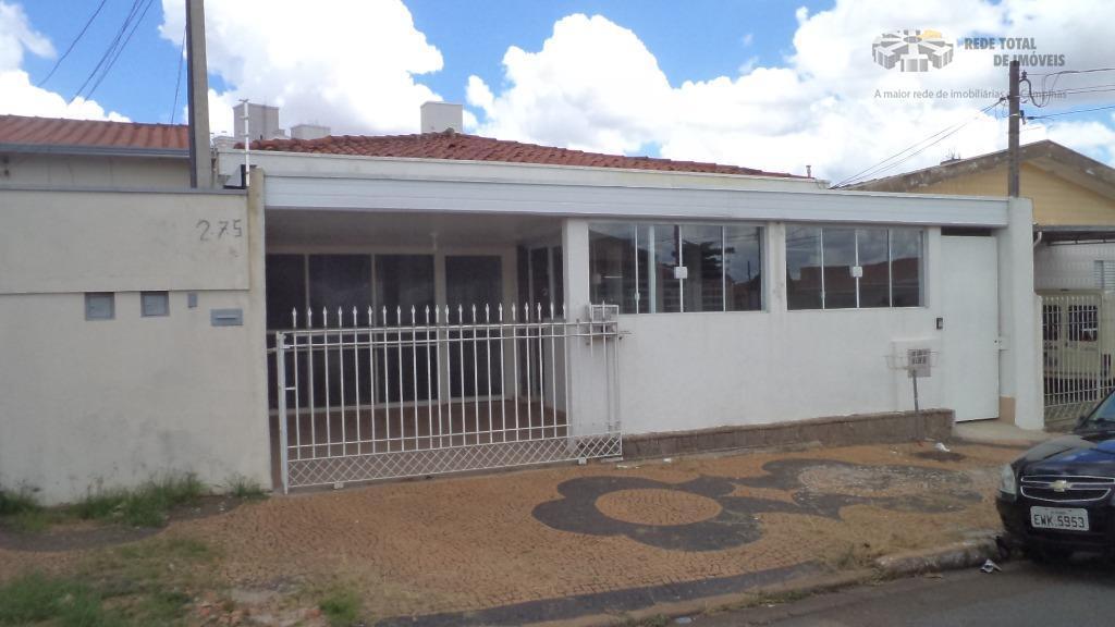 Casa comercial para locação, Jardim Chapadão, Campinas.