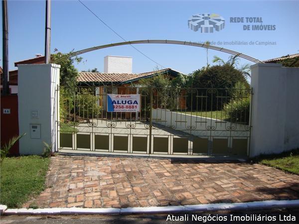 Casa Residencial para locação, Caminhos de San Conrado, Campinas - CA0158.
